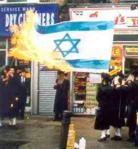 Yahudi Bakar Bendera Israel